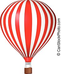 Air balloon on a white background