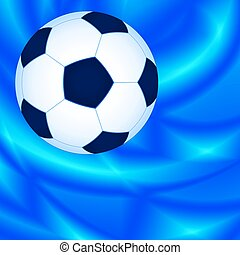 Background - Soccer bal on the abstract background
