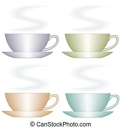 Cup set.eps - Set of the cup icons