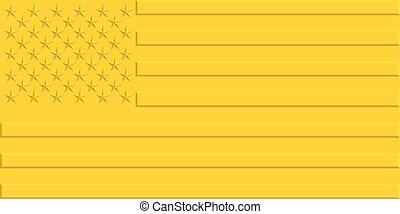 Gold USA flag - Stylized gold flag of the United States