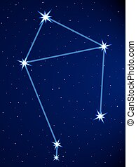 Libra constellation on the starry sky