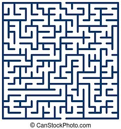 Maze - Illustration of the maze for leisure