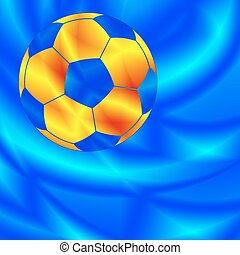 Soccer ball on abstract background