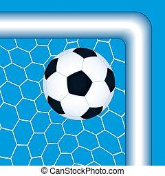 Soccer ball in the net.eps