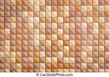 Pattern of red square sandstone wall texture and background