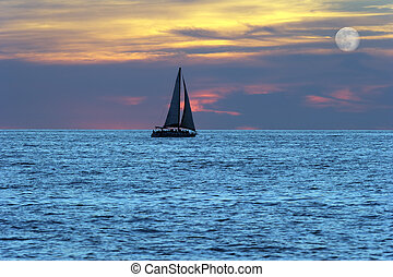 Sailboat Silhouette - Sailboat silhouette is a sailboat...