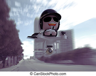 Policedrone - Policedrone Flying Through City Street 3D...