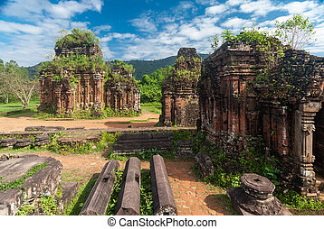 My Son Sanctuary, Vietnam - Remains of Hindu tower-temples...
