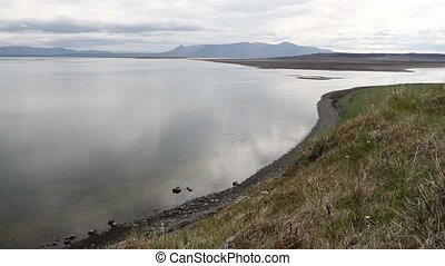 Iceland Lake - Beautiful wide shot of Iceland landscape with...