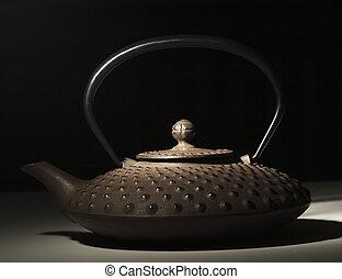 japanese teapot closeup