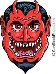 Devil Monster Face