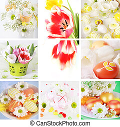 Easter collage - Collection of eight still live photos for...