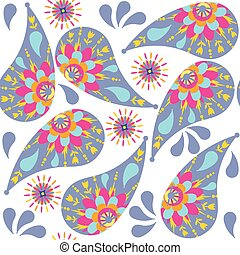 Paisley seamless pattern , vector