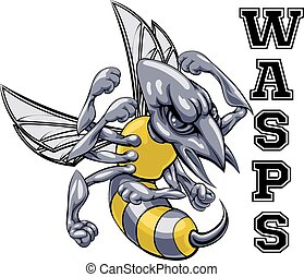 Wasps Mascot - An illustration of a cartoon wasp sports team...