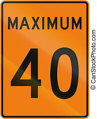 Temporary Maximum Speed 40 Kmh in Canada - Temporary road...