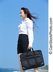 Successful business woman look - Successful business woman...