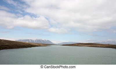 Iceland Landscape - Beautiful wide shot of Iceland snowy...