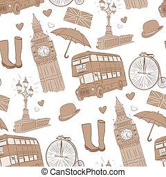 Vector hand drawn London pattern