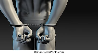 Criminal Justice System of Man Arrested with Handcuffs