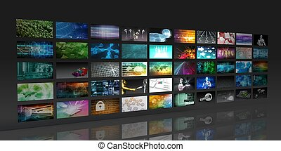 Multimedia Background for Digital Network on the Internet