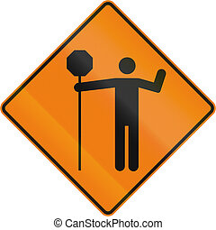 Traffic Control Person Ahead in Canada - Canadian temporary...