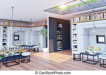 restaurant interior - modern restaurant interior design 3d...