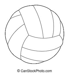 volleyball ball - outline illustration of volleyball ball