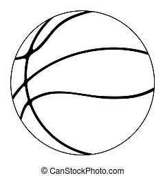 basketball ball - outline illustration of basketball ball