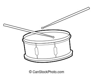 drum - outline illustration of drum