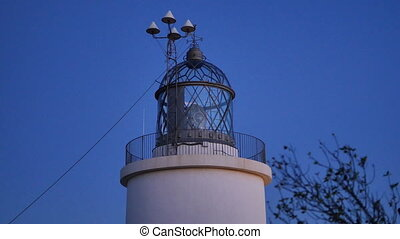 Maritime Lighthouse Start at Sunset - Mediterranean maritime...