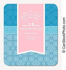 Retro Elegant Invitation Design