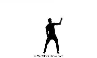 Afro american man dancer continue dancing social latina...