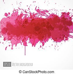 Abstract background with pink splashes