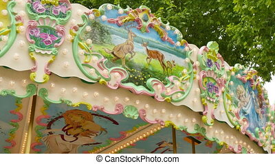 Classical Pretty Modern Carousel - French style rotating...