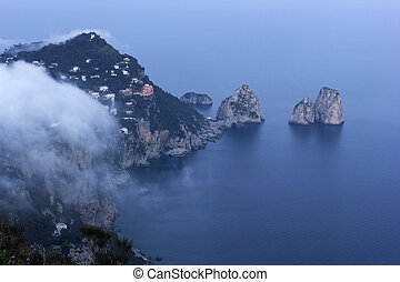 View on Capri in Italy