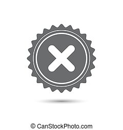 Vintage emblem medal. no icon. Classic flat icon. Vector