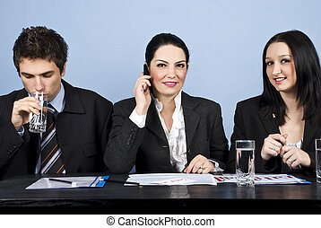 Business people meeting in office - Three business p[eople...