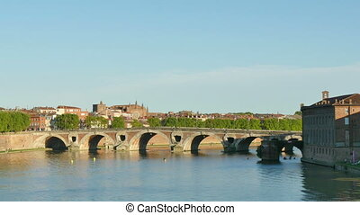 Toulouse Garonne Panoramic View - Panoramic view from the...
