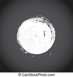 Abstract background with white circle on black