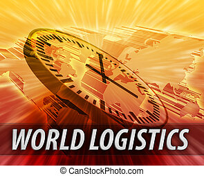 International logistics management concept - World...
