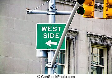 West Side sign