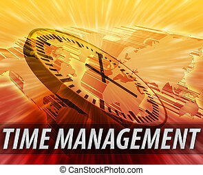 International time management background - World...