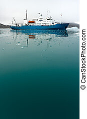 Icebreaker in Icy Water - Icebreaker in icy water....
