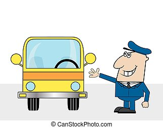 Clipart Vector of Bus Driver csp4213085 - Search Clip Art ...