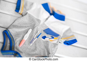 Positive pregnancy test - A Positive pregnancy test on a...