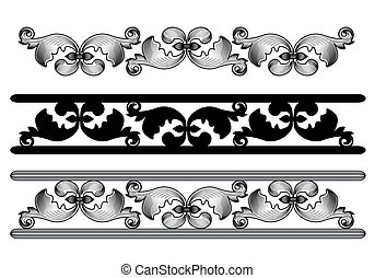 carved pattern - surround a carved pattern on a white...