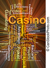 Casino background concept glowing - Background concept...