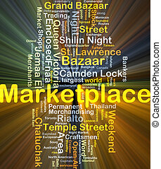 Marketplace background concept glowing - Background concept...