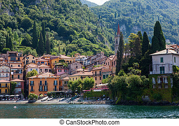 View of Varenna on Como lake, Italy