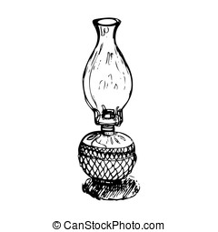 antique lantern vector